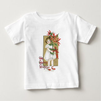 Little Girl with Christmas Flowers T-shirts