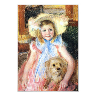 Little Girl with Dog Invitations