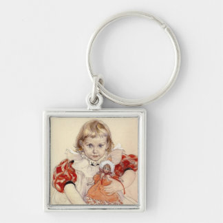 Little Girl with Doll 1897 Keychain