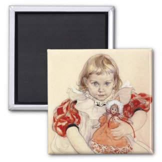 Little Girl with Doll 1897 Refrigerator Magnets