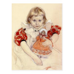Little Girl with Doll 1897 Post Card