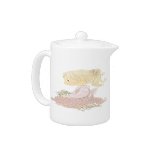 Little Girl With Flowers - Teapot