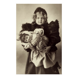 Little Girl with Her Doll, 1898 Posters