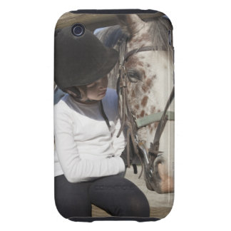 Little girl with her horse iPhone 3 tough cover