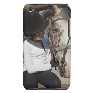Little girl with her horse iPod touch case