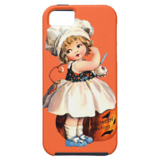 little girl with pumpkin iPhone 5 covers