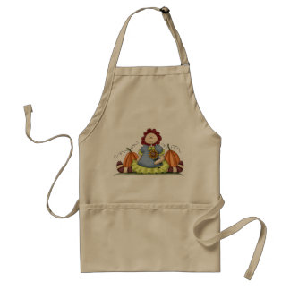 Little Girl with Pumpkins Apron