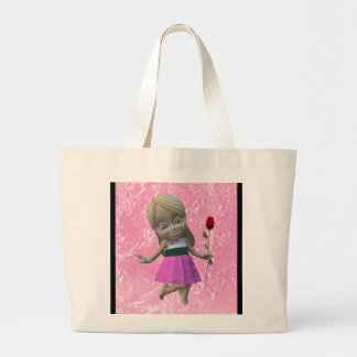 Little Girl with Rose Tote Tote Bag