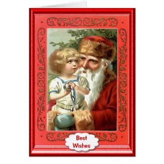 Little girl with Santa Card