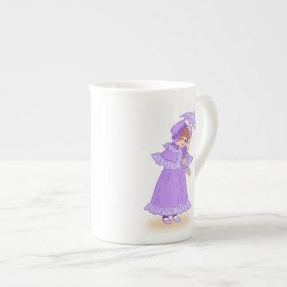 Little girl with umbrella China mug