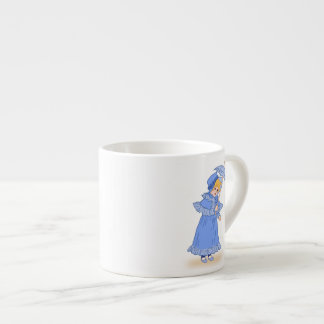 Little girl with umbrella espresso mug