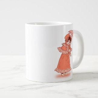 Little girl with umbrella jumbo mug