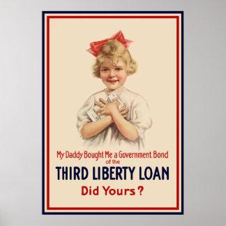Little Girl WW1 Bond -- Border Print