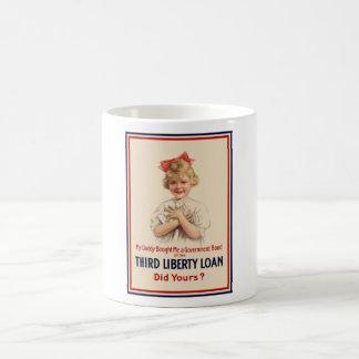 Little Girl WW1 Bond Poster Classic White Coffee Mug