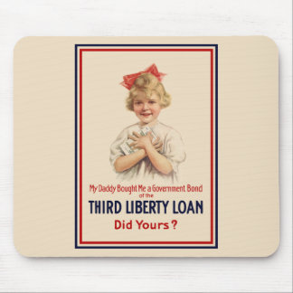 Little Girl WW1 Bond Poster Mouse Pad