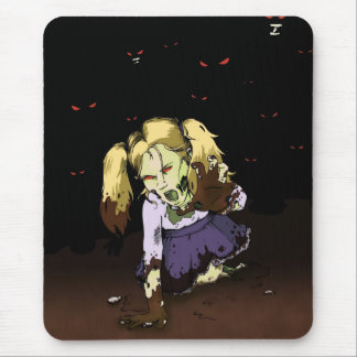 Little Girl Zombie Mouse Pad