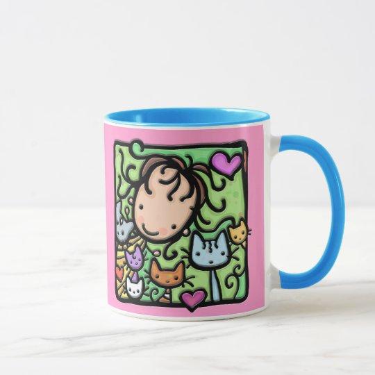 Little Girlie loves her kitties Mug