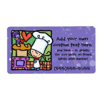 Little Girlie loves to bake bread PPL Custom Shipping Label