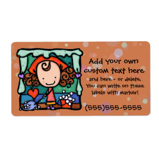 Little Girlie loves to clean house! RUST Shipping Label