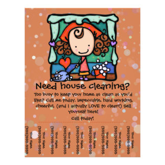 House Cleaning Business Flyers & Programs | Zazzle