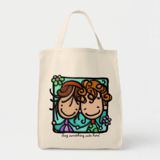 Little Girlies has a Best Friend Forever! Grocery Tote Bag