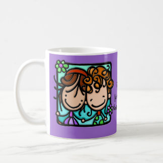 Little Girlies has a Best Friend Forever! Classic White Coffee Mug