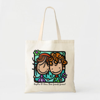 Little Girlies has a Best Friend Forever! Tote Bag