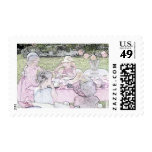 Little Girls Afternoon Tea Postage Stamp