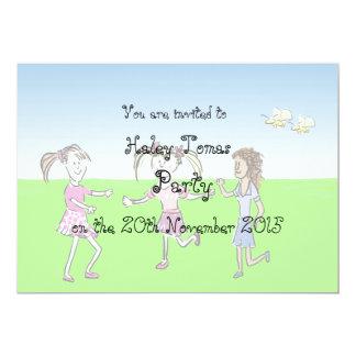 Little girls birthday party invitation