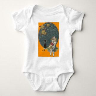 Little Girls Black Cat Jack O Lantern Night Tshirts