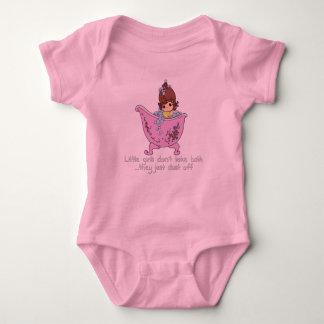 Little girls don't take bath baby bodysuit