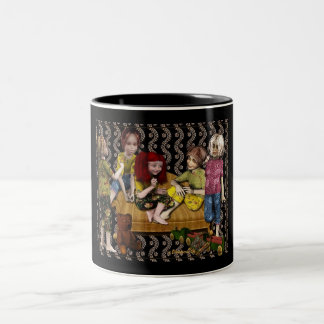 Little girls-du-mug Two-Tone coffee mug