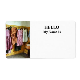 Little Girl's Gathered Dresses Shipping Label
