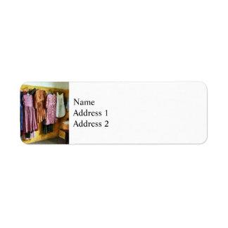 Little Girl's Gathered Dresses Return Address Label