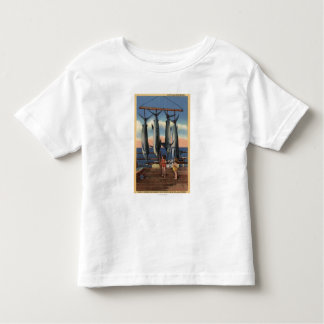 Little Girls Looking at Caught Swordfish Toddler T-shirt