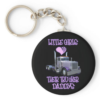 Little Girls Love Their Trucker Daddy's Keychain