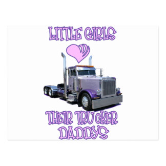 Little Girls Love Their Trucker Daddy Postcard