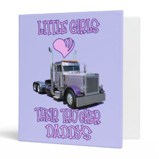 Little Girls Love Their Trucker Dads Binder