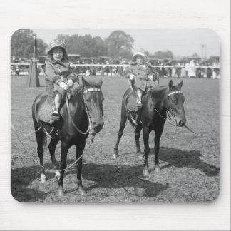 Little Girls on Horseback, early 1900s Mouse Pad