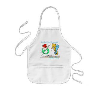 Little Girls Personalized Mermaid Cooking Apron