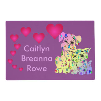 Little Girls Personalized Placemat