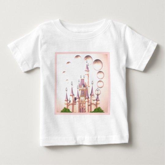 Little Girl's Princess Castle Birthday Invitations Baby T-Shirt