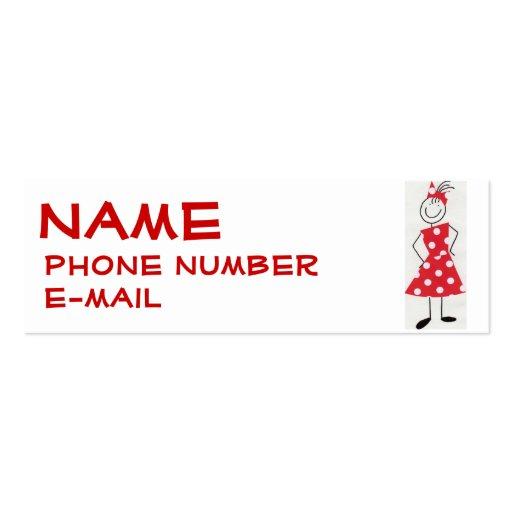 Disney business card templates bizcardstudio little girls profile card business card template colourmoves