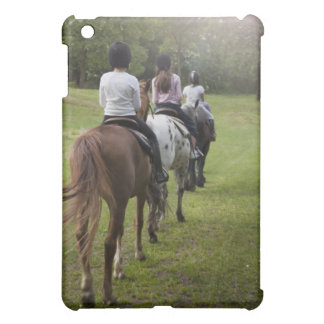 Little girls riding horses cover for the iPad mini