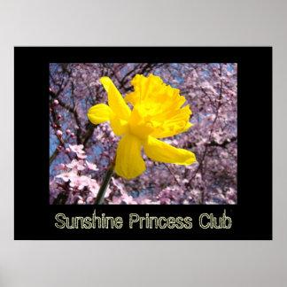 LITTLE GIRL'S room Art Sunshine Princess Club Poster