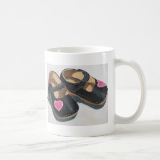 LITTLE GIRL'S SHOES WITH HEART CLASSIC WHITE COFFEE MUG