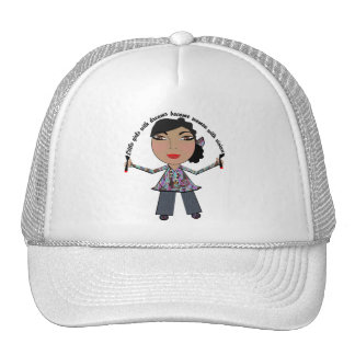 Little Girls With Dreams Become Women With Vision Trucker Hat