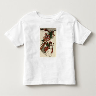 Little Girls with Holly and the Christmas Tree Toddler T-shirt