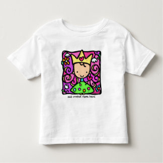 Little girly princess. Crown, gown, hearts flowers T Shirt