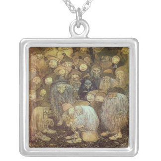 Little Gnome Boy Silver Plated Necklace